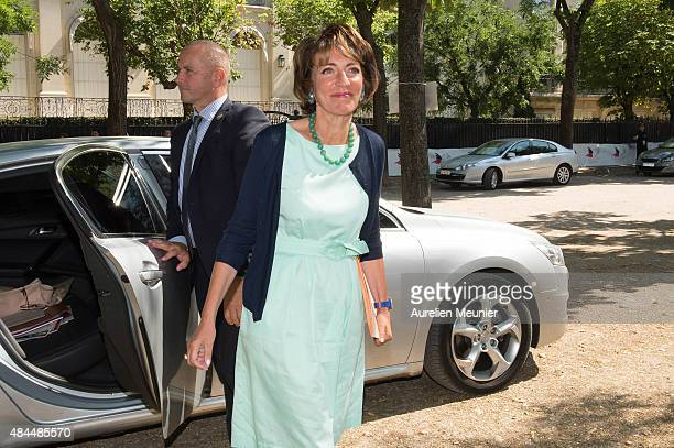 Marisol Touraine Minister of Social Affairs attends a giant picnic organised by Secours Populaire on the Champs de Mars for the charity's 70th...
