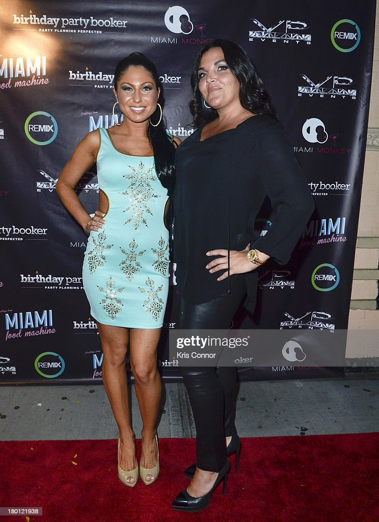 Marissa and Jennifer Graziano pose for photos during the 'Miaimi Monkey' New Screening at 49 Grove on September 8, 2013 in New York City.