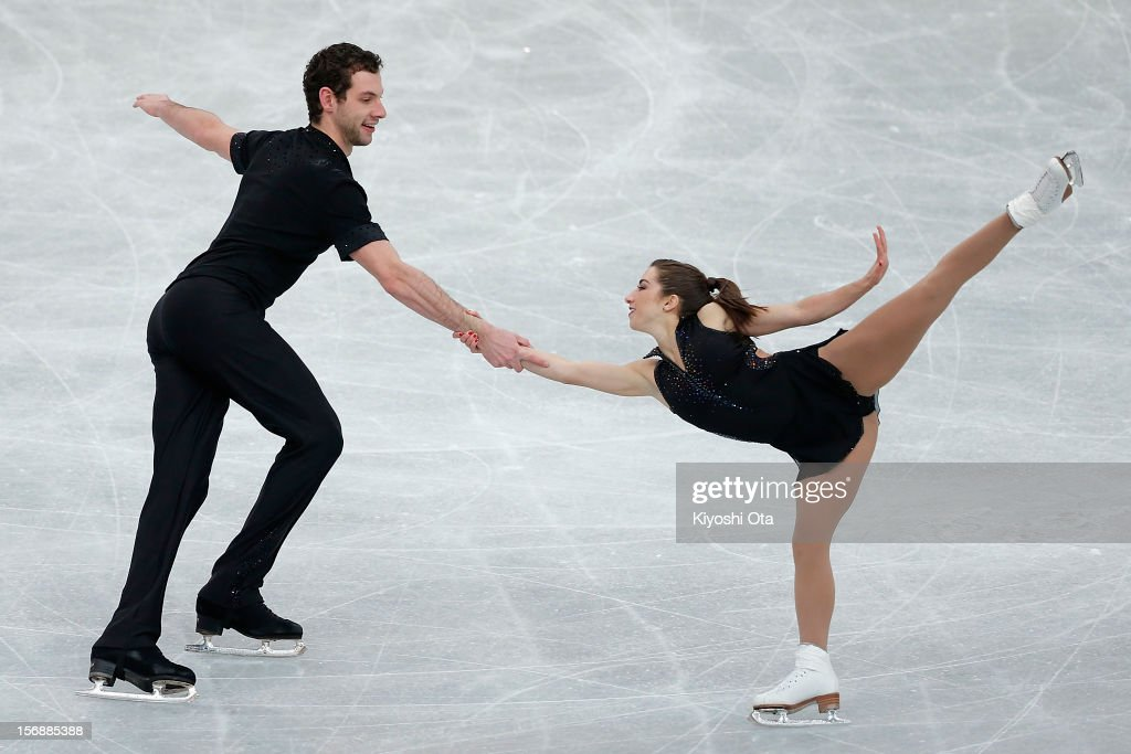 Marissa Castelli and Simon Shnapir of the United States compete in the Pairs Short Program during day two of the ISU Grand Prix of Figure Skating NHK Trophy at Sekisui Heim Super Arena on November 24, 2012 in Rifu, Japan.