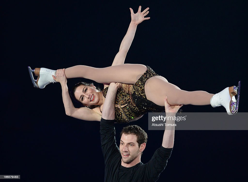 Marissa Castelli and Simon Shnapir of USA perform during day four of the ISU World Team Trophy at Yoyogi National Gymnasium on April 14, 2013 in Tokyo, Japan.