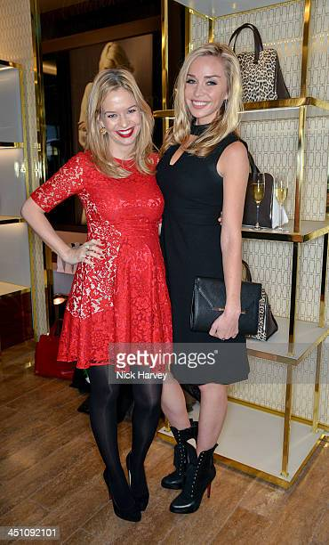 Marissa Hermer and Noelle Reno attend the Furla flagship store reopening on November 21 2013 in London England