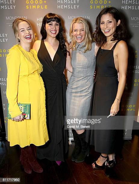 Marissa Hermer Melissa Hemsley Julie Montagu and Jasmine Hemsley attend the launch of 'Good Simple' by Jasmine Hemsley and Melissa Hemsley at...