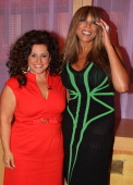 Marissa Jaret Winokur and Wendy Williams on the set of The Wendy Williams Show as she promotes Oxygen's hit show 'Dance Your Ass Off' at The Wendy...