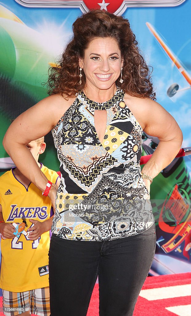 Marissa Jaret Winokur arrives at the Los Angeles premiere of 'Planes' held at the El Capitan Theatre on August 5, 2013 in Hollywood, California.