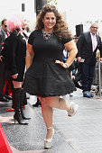 Marissa Jaret Winokur attends a ceremony honoring Cyndi Lauper And Harvey Fierstein with a double star ceremony on The Hollywood Walk Of Fame on...