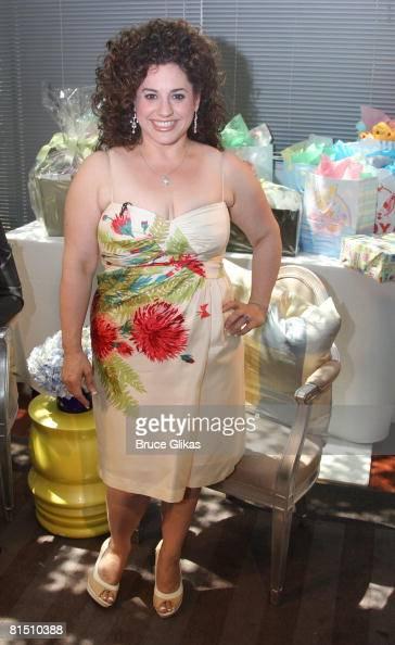 Marissa Jaret Winokur Poses At A Baby Shower Celebrating Marissa