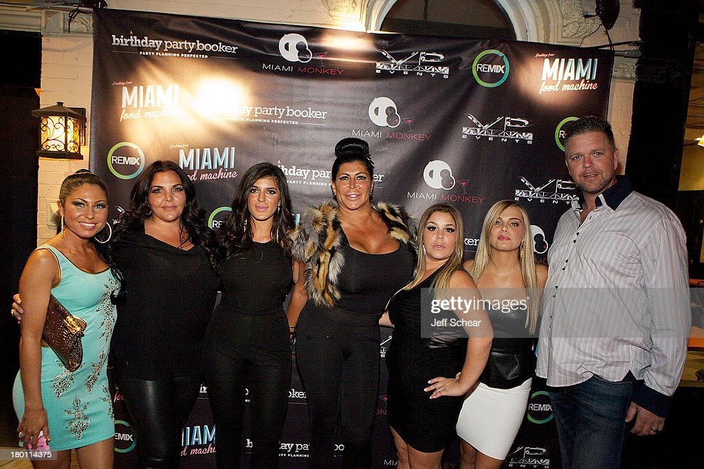 Marissa, Jennifer Graziano, Raquel, Angela '<a gi-track='captionPersonalityLinkClicked' href=/galleries/search?phrase=Big+Ang&family=editorial&specificpeople=8749866 ng-click='$event.stopPropagation()'>Big Ang</a>' Raiola, Roxanne, Ryan and Neil Murphy attend the MIAMI MONKEY Premiere Party Presented By JustJenn Productions And The Weinstein Company at 49 Grove on September 8, 2013 in New York City.