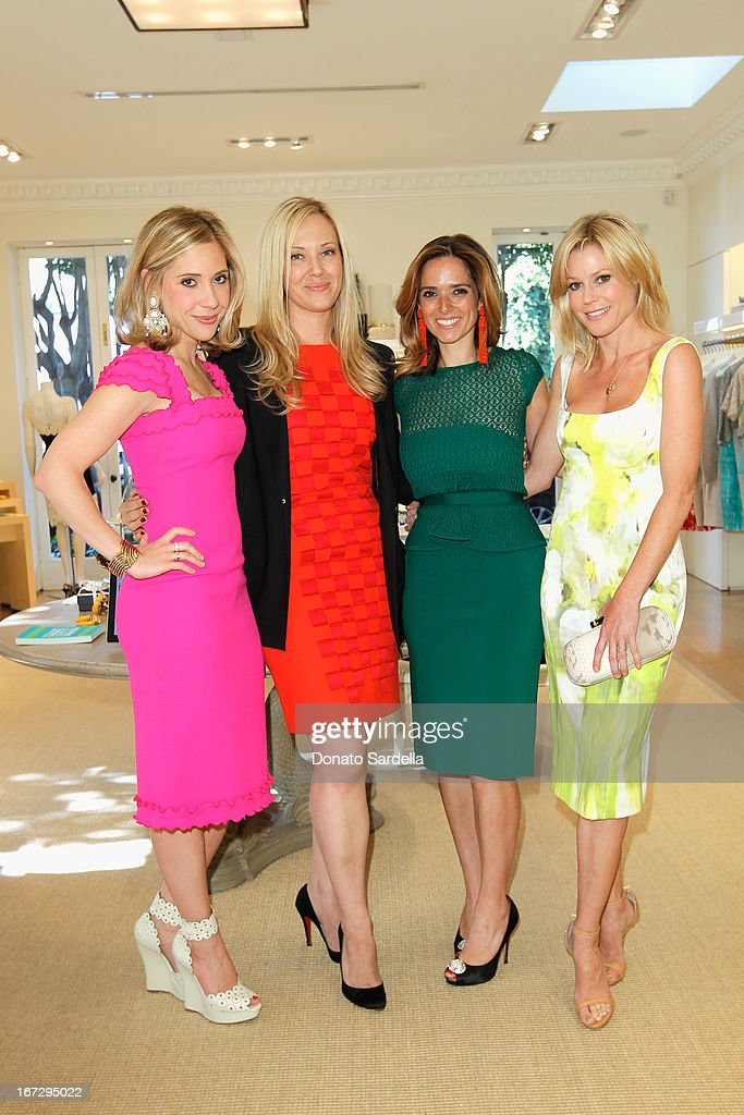 Marissa Kraxberger, VP of Creative Oscar de la Renta, Tara Swennen, Host Committee, author Kelly Florio Kasouf and actress Julie Bowen attend Oscar de le Renta and author Kelly Florio Kasouf invite children to shop the Spring 2013 Collections and Limited Edition 'Sophie Party Dress' at Oscar de La Renta Boutique on April 23, 2013 in West Hollywood, California.
