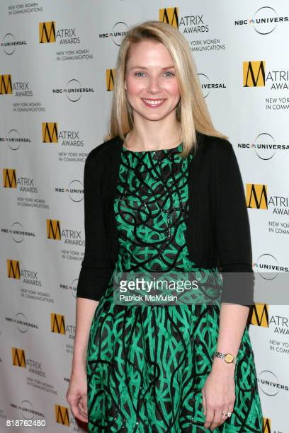 Marissa Mayer attends New York WOMEN IN COMMUNICATIONS Presents The 2010 MATRIX AWARDS at Waldorf Astoria on April 19 2010 in New York City