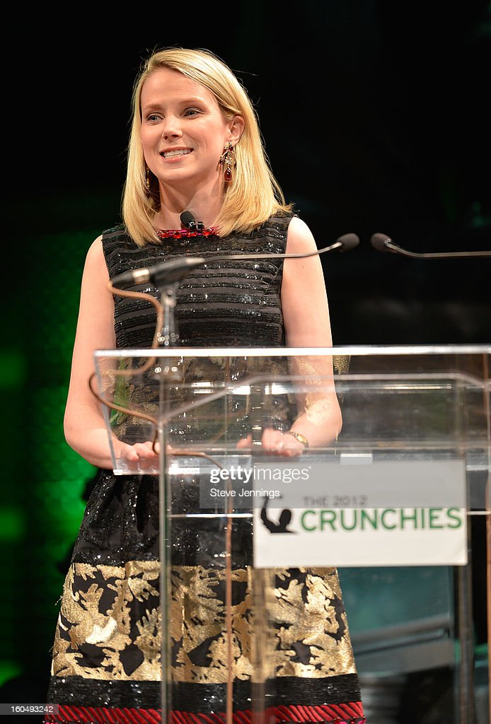<a gi-track='captionPersonalityLinkClicked' href=/galleries/search?phrase=Marissa+Mayer&family=editorial&specificpeople=5577875 ng-click='$event.stopPropagation()'>Marissa Mayer</a> attends the 6th Annual Crunchies Awards at Davies Symphony Hall on January 31, 2013 in San Francisco, California.