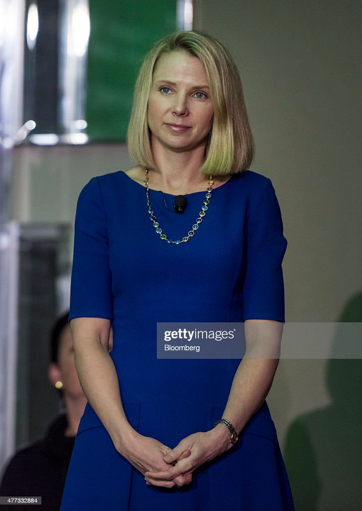 <a gi-track='captionPersonalityLinkClicked' href=/galleries/search?phrase=Marissa+Mayer&family=editorial&specificpeople=5577875 ng-click='$event.stopPropagation()'>Marissa Mayer</a>, president and chief executive officer at Yahoo! Inc., waits to speak during the 2015 Bloomberg Technology Conference in San Francisco, California, U.S., on Tuesday, June 16, 2015. Mayer said that the company's spinoff of its stake in Alibaba Group Holding Ltd. is proceeding as planned. Photographer: David Paul Morris/Bloomberg via Getty Images
