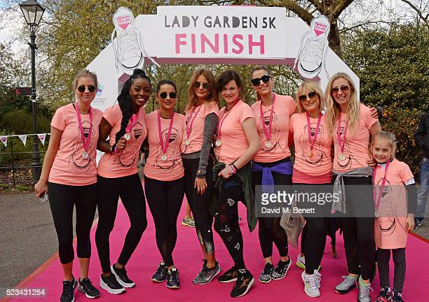 Marissa Montgomery AJ Odudu Roxie Nafousi Millie Mackintosh Jasmine Guinness Vogue Williams Mika Simmons and Jenny Halpern Prince attend the Lady...