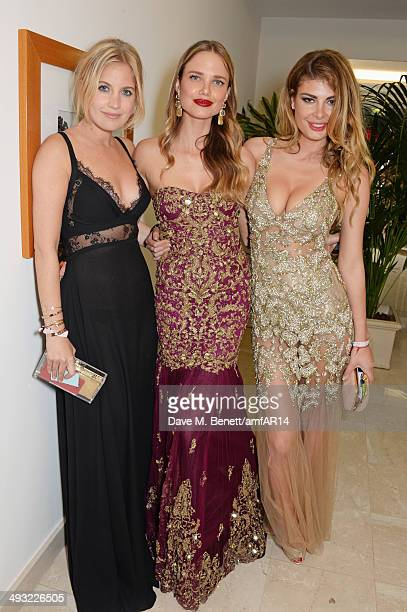 Marissa Montgomery Alicia Rountree and Angela Martini attend amfAR's 21st Cinema Against AIDS Gala after party presented by WORLDVIEW BOLD FILMS and...