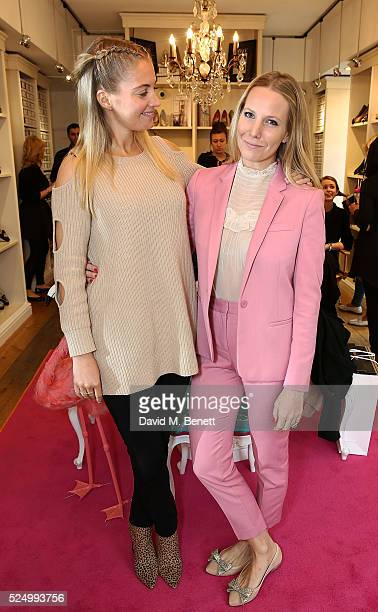 Marissa Montgomery and Alice NaylorLeyland attend the launch of Alice NaylorLeyland's new children's shoe collection with French Sole on April 27...