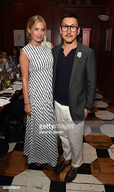 Marissa Montgomery and Eudon Choi attend the Eudon Choi and Laura Jackson Summer Supper Club at The Richmond on July 27 2016 in London England