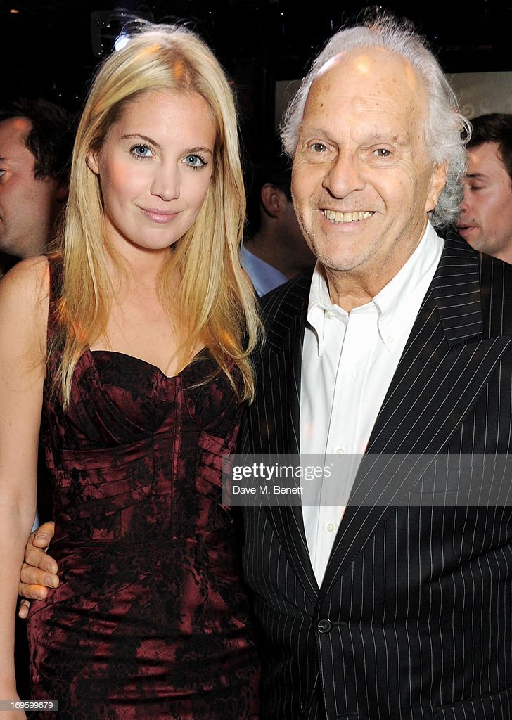 Marissa Montgomery (L) and father David Montgomery attend the launch of 'The New Digital Age: Reshaping The Future Of People, Nations and Business' by Eric Schmidt and Jared Cohen, hosted by Jamie Reuben, at Loulou's on May 28, 2013 in London, England.