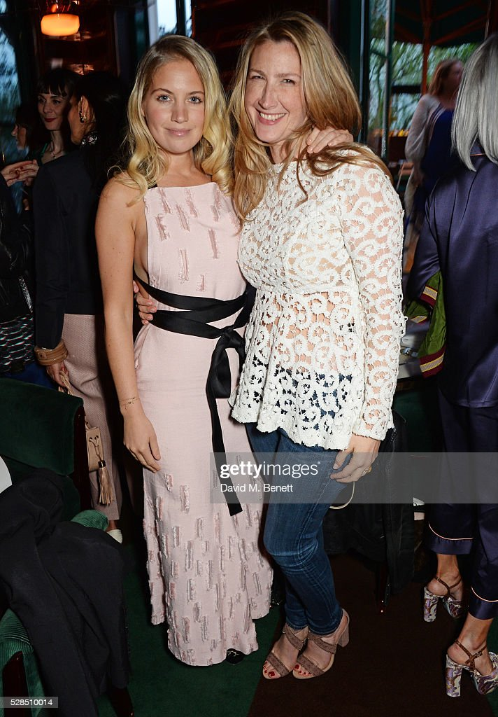 Marissa Montgomery (L) and Georgina Cohen attend a private dinner hosted by Rodial founder Maria Hatzistefanis & Bay Garnett at Casa Cruz on May 5, 2016 in London, England.