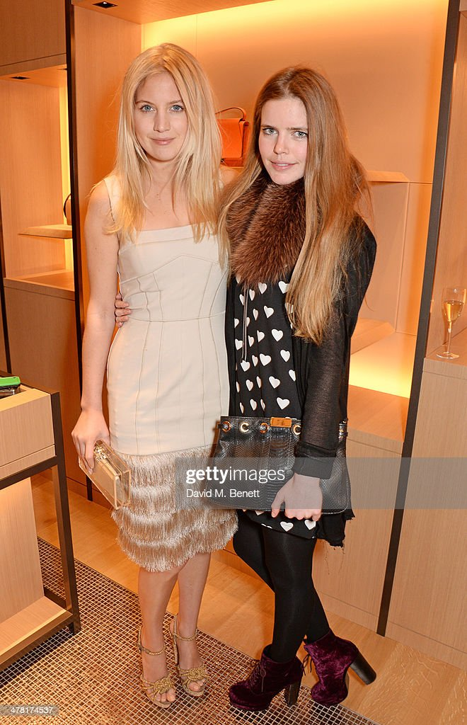 Marissa Montgomery (L) and Katie Readman attend the Moynat London boutique opening on March 12, 2014 in London, England.