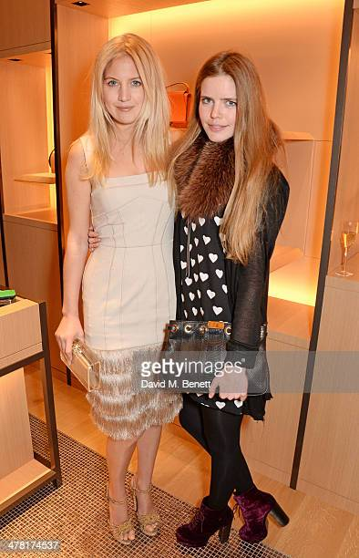 Marissa Montgomery and Katie Readman attend the Moynat London boutique opening on March 12 2014 in London England