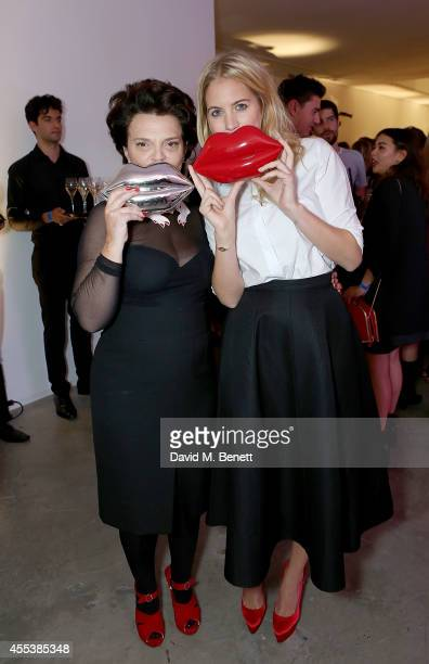 Marissa Montgomery and Lulu Guinness attend the launch of The Lulu Perspective To Celebrate 25 Years of Lulu Guinness on September 13 2014 in London...