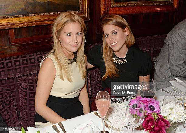 Marissa Montgomery and Princess Beatrice of York attend a private dinner hosted by Alice Naylor Leyland to celebrate the launch of 'Mrs Alice In Her...