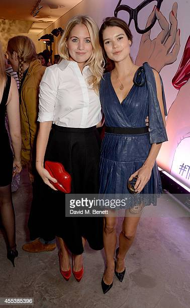 Marissa Montgomery and Sarah Ann Macklin attend the launch of The Lulu Perspective To Celebrate 25 Years of Lulu Guinness on September 13 2014 in...