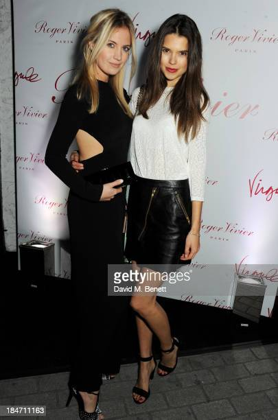 Marissa Montgomery and Sarah Ann Macklin attend the Roger Vivier Virgule London launch party hosted by Atlanta de Cadenet Ines de la Fressange and...
