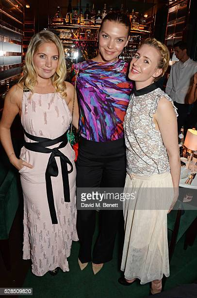 Marissa Montgomery Arizona Muse and Megan Kennedy attend a private dinner hosted by Rodial founder Maria Hatzistefanis Bay Garnett at Casa Cruz on...