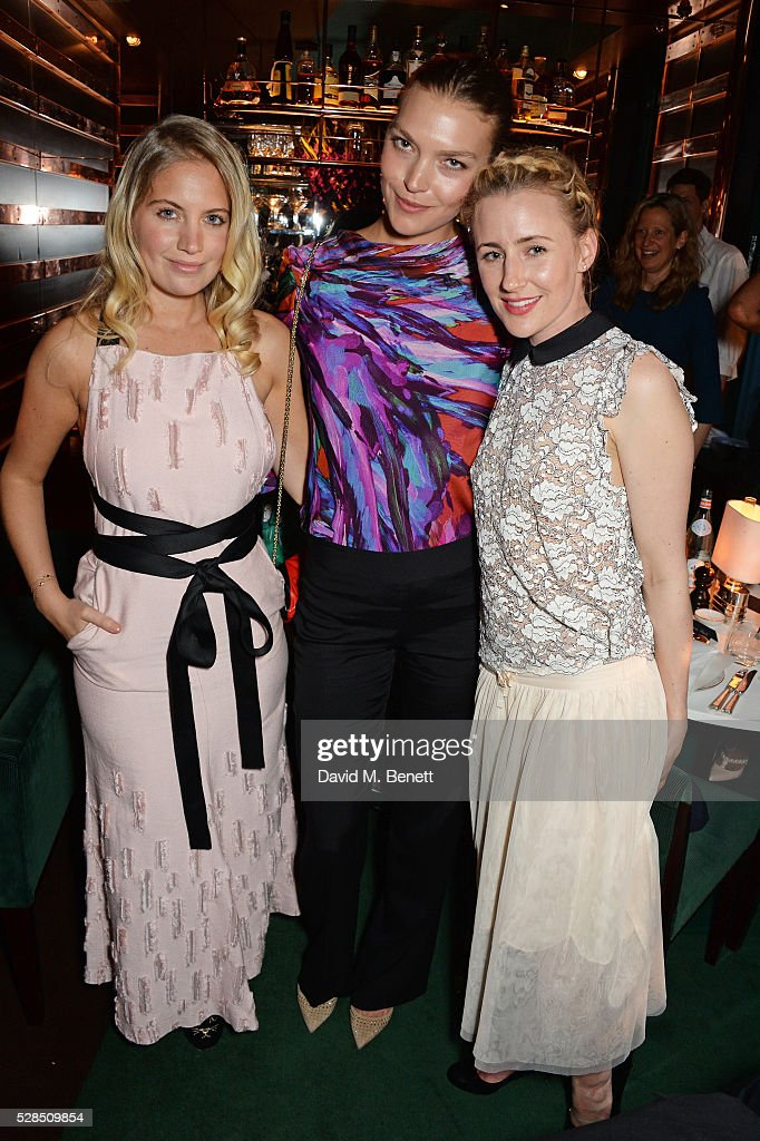 Marissa Montgomery, Arizona Muse and Megan Kennedy attend a private dinner hosted by Rodial founder Maria Hatzistefanis & Bay Garnett at Casa Cruz on May 5, 2016 in London, England.