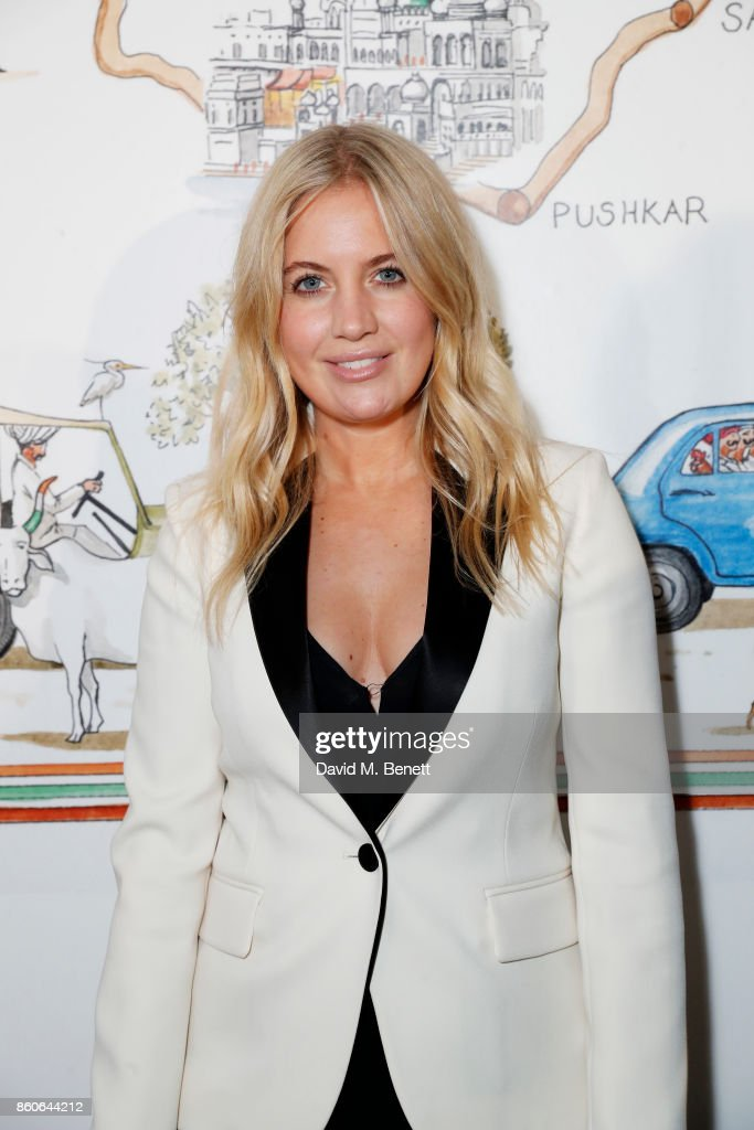 Marissa Montgomery attends the Travels to My Elephant racer send-off party hosted by Ruth Ganesh, Ben Elliot and Waris Ahluwalia in association with The Luxury Collection at 1 Horse Guards Avenue on October 12, 2017 in London, England.