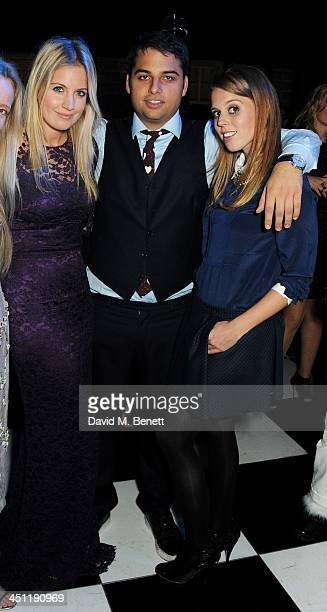 Marissa Montgomery Jamie Reuben and Princess Beatrice of York attend the Adventure in Wonderland Ball held by The Reuben Foundation in aid of Great...