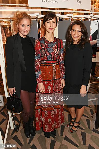 Marissa Montgomery Sophie Hunter and Sayoko Teitelbaum attend 'Shop Wear Care' a onenight only shopping event in aid of Great Ormond Street Hospital...