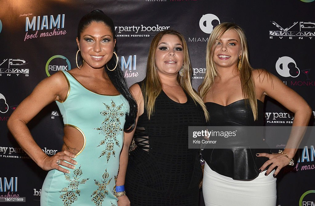 Marissa, Roxanne and Ryan pose for photos during the 'Miaimi Monkey' New Screening at 49 Grove on September 8, 2013 in New York City.