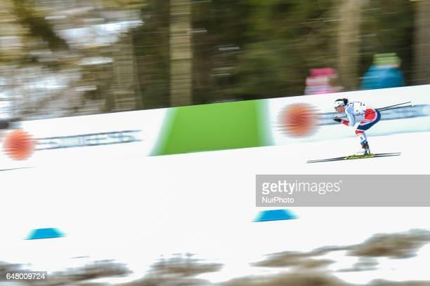 Marit Bjoergen from Norway during Ladies crosscountry 30 km Mass Start Free final at FIS Nordic World Ski Championship 2017 in Lahti On Saturday...