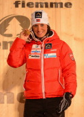 Marit Bjoergen of Norway poses with her Gold medal at the medal ceremony for the Women's Skiathlon at the FIS Nordic World Ski Championships on...