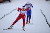 Marit Bjoergen of Norway races during the FIS Tour de Ski Oberhof Women's Prolouge at DKB Ski Arena on December 29 2011 in Oberhof Germany