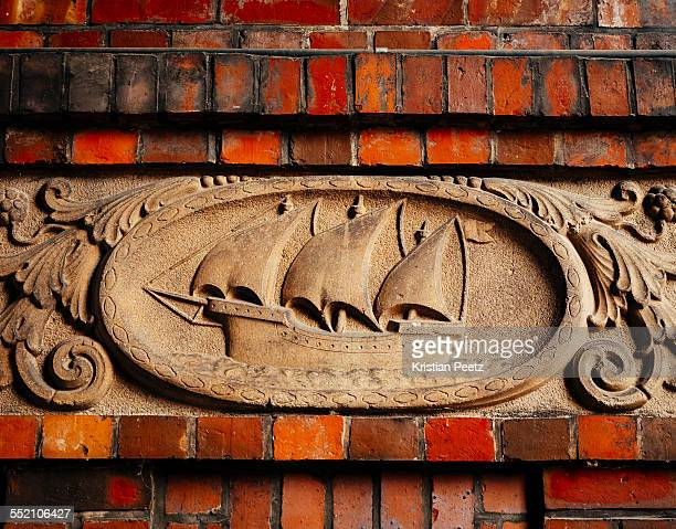 Maritime relief on the wall