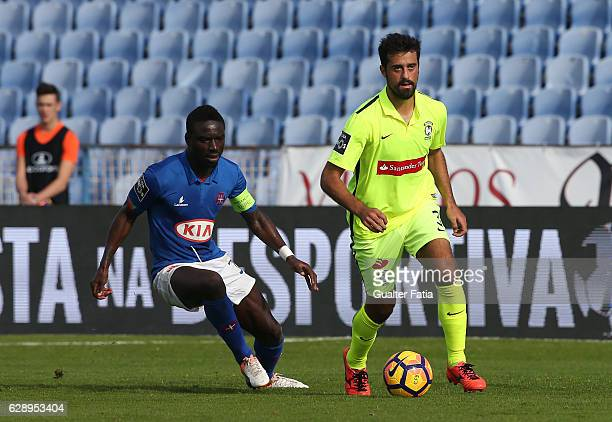 Maritimo's defender Mauricio Carvalho from Brazil with Belenenses's forward Abel Camara from Portugal in action during the Primeira Liga match...