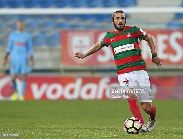 Maritimo's midfielder Erdem Sen from Torquey in action during the Primeira Liga match between GD Estoril Praia and CS Maritimo at Estadio Antonio...