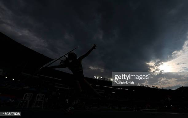 Maritza Escarcega of Mexico in action during qualification for the Girls Javelin Throw on day one of the IAAF World Youth Championships Cali 2015 on...