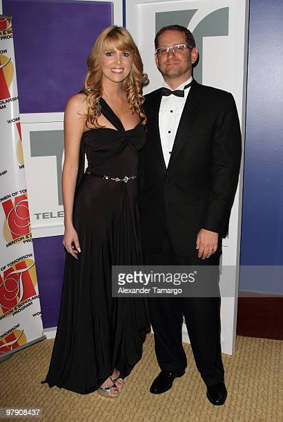 Maritza Rodriguez and Joshua Mintz attend Telemundo's annual gala for the Women of Tomorrow Mentor Scholarship Program at Mandarin Oriental on March...