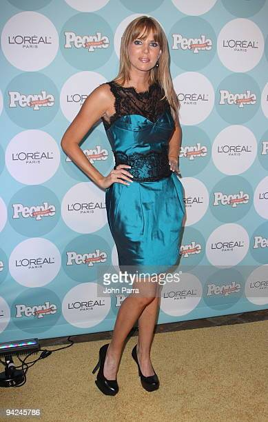 Maritza Rodriguez arrives at 2009 Premios People En Espanol at Club 50 at Viceroy Miami on December 9 2009 in Miami Florida