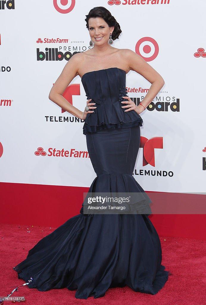 Maritza Rodriguez arrives at Billboard Latin Music Awards 2013 at Bank United Center on April 25, 2013 in Miami, Florida.