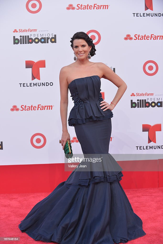 Maritza Rodriguez arrives at Billboard Latin Music Awards 2013 at Bank United Center on April 25, 2013 in Miami, Florida.