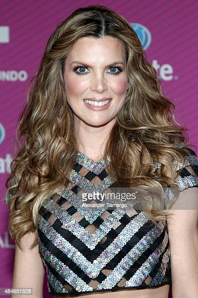 Maritza Rodriguez arrives at Telemundo's 'Premios Tu Mundo Awards' at American Airlines Arena on August 20 2015 in Miami Florida