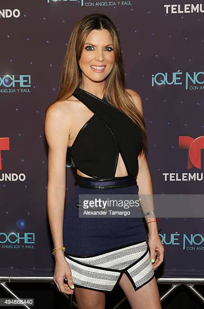 Maritza Rodriguez arrives at the special screening of 'Que Noche With Angelica And Raul' at Imagina Studios on October 29 2015 in Miami Florida