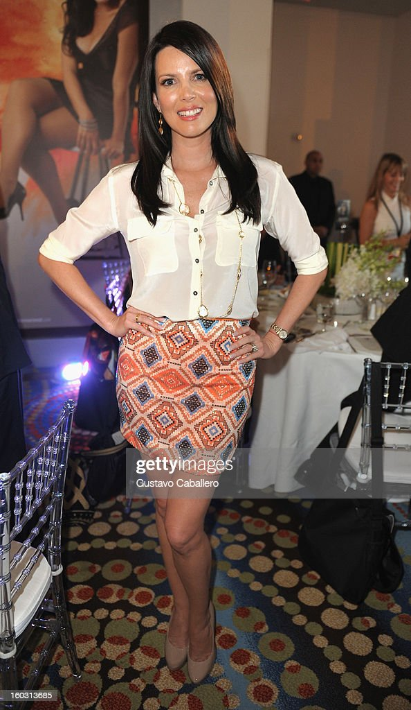 Maritza Rodriguez attends Telemundo NATPE 2013 Press Conference And Luncheon at Eden Roc Hotel on January 28, 2013 in Miami Beach, Florida.