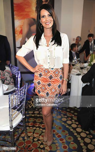 Maritza Rodriguez attends Telemundo NATPE 2013 Press Conference And Luncheon at Eden Roc Hotel on January 28 2013 in Miami Beach Florida