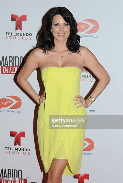 Maritza Rodriguez attends Telemundo's 'Marido El Alquiler' Press Event at Westin Diplomat on September 3 2013 in Hollywood Florida