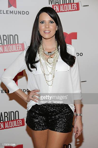 Maritza Rodriguez attends Telemundo's 'Marido en Alquiler' Presentation at Telemundo Studios on July 10 2013 in Miami Florida